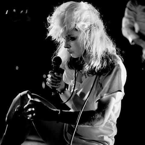 Blondie, Debbie Harry at The Roundhouse, 1978  by Phil Grey