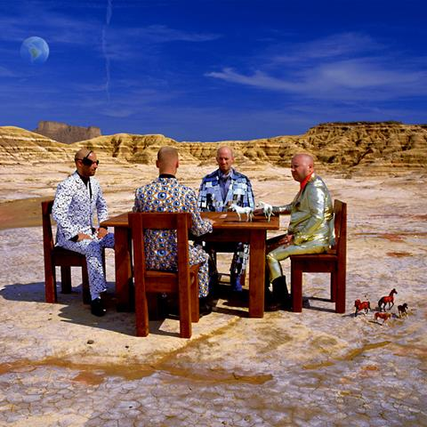 Alternative artwork by Storm Thorgerson for Muse's album Black Holes & Revelations