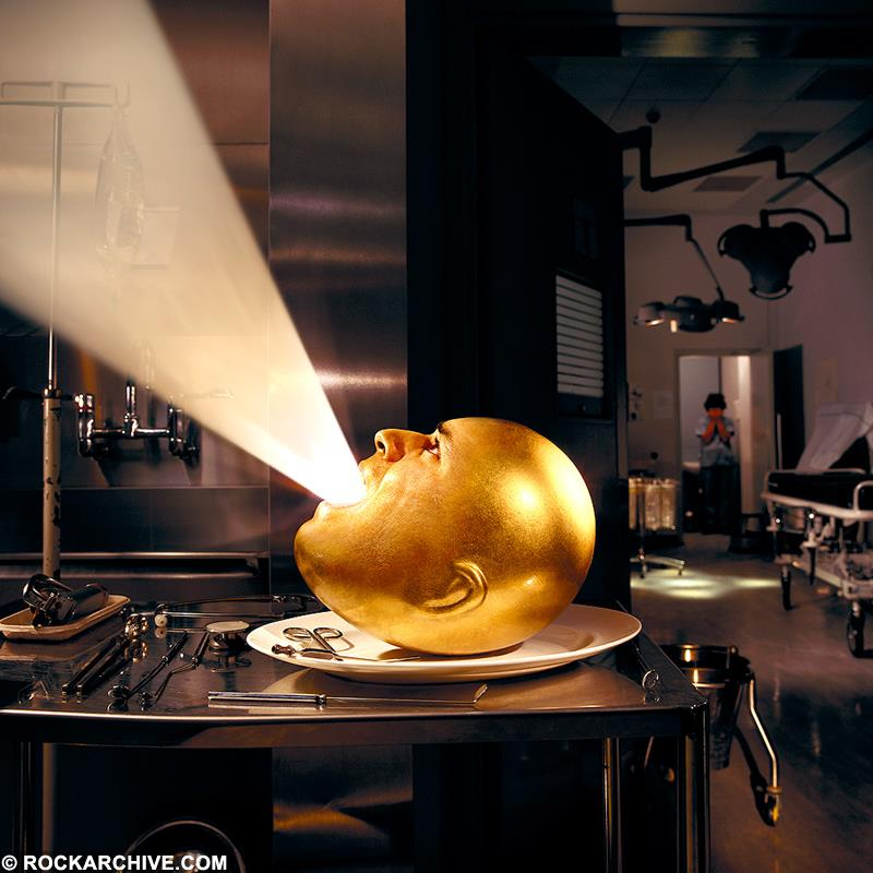 Artwork by Storm Thorgerson for Mars Volta's album Deloused in the Comatorium