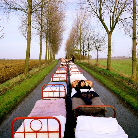 Artwork by Storm Thorgerson designed for the cover of Pink Floyd's album Momentary Lapse of Reason