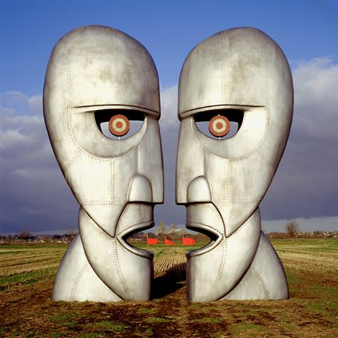Alternative artwork by Storm Thorgerson for Pink Floyd's Division Bell