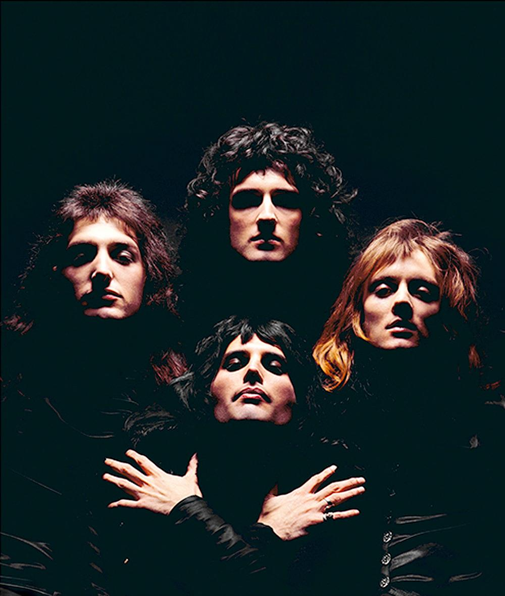 Queen photographed by Mick Rock in 1974
