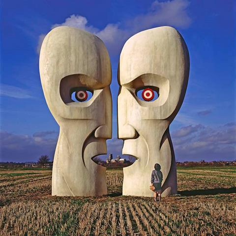 Variant of the artwork for Pink Floyd's album Division Bell by Storm Thorgerson