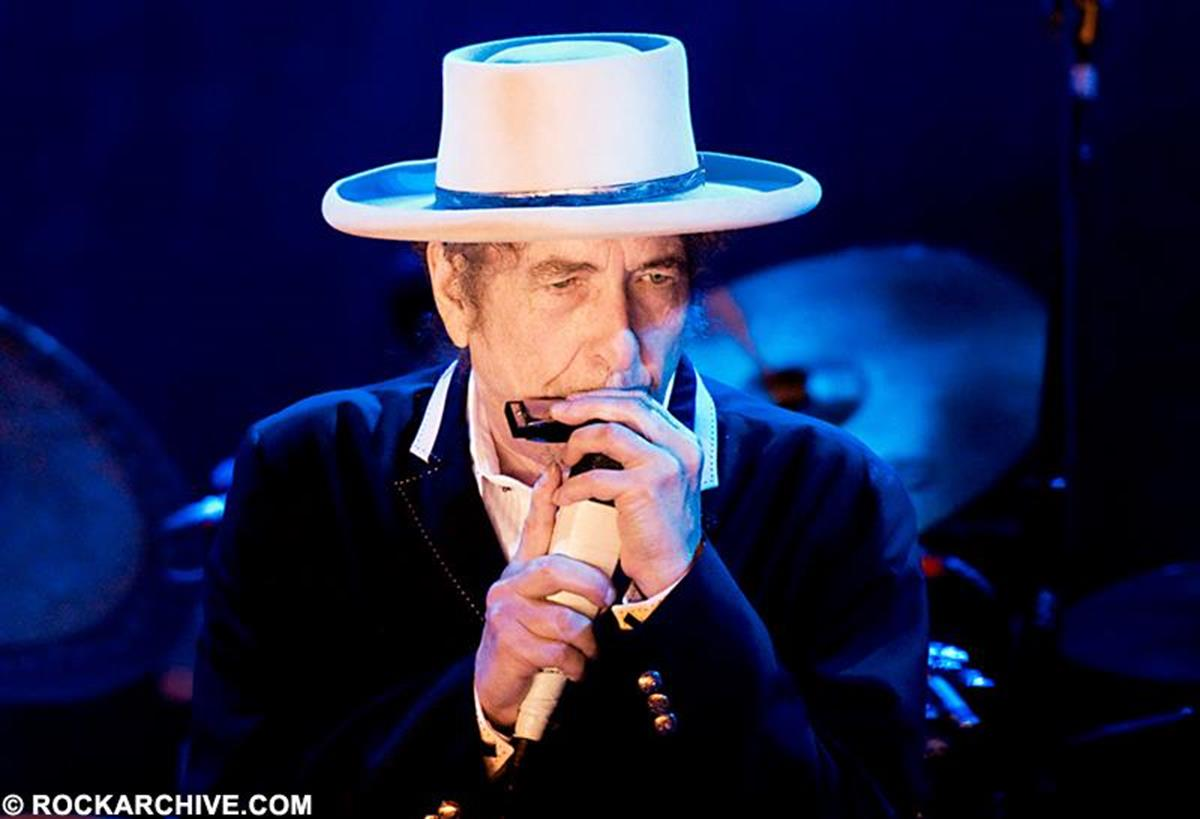 Bob Dylan performing onstage at the Salzburgarena, Salzburg, Austria in July 2012 as part of his Never Ending Tour. © Paolo Brillo