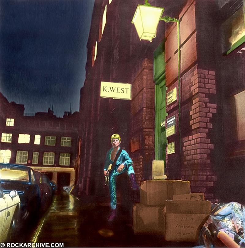 Terry Pastor designed and hand coloured the album artwork for David Bowie's Ziggy Stardust and The Spiders From Mars.  © Terry Pastor