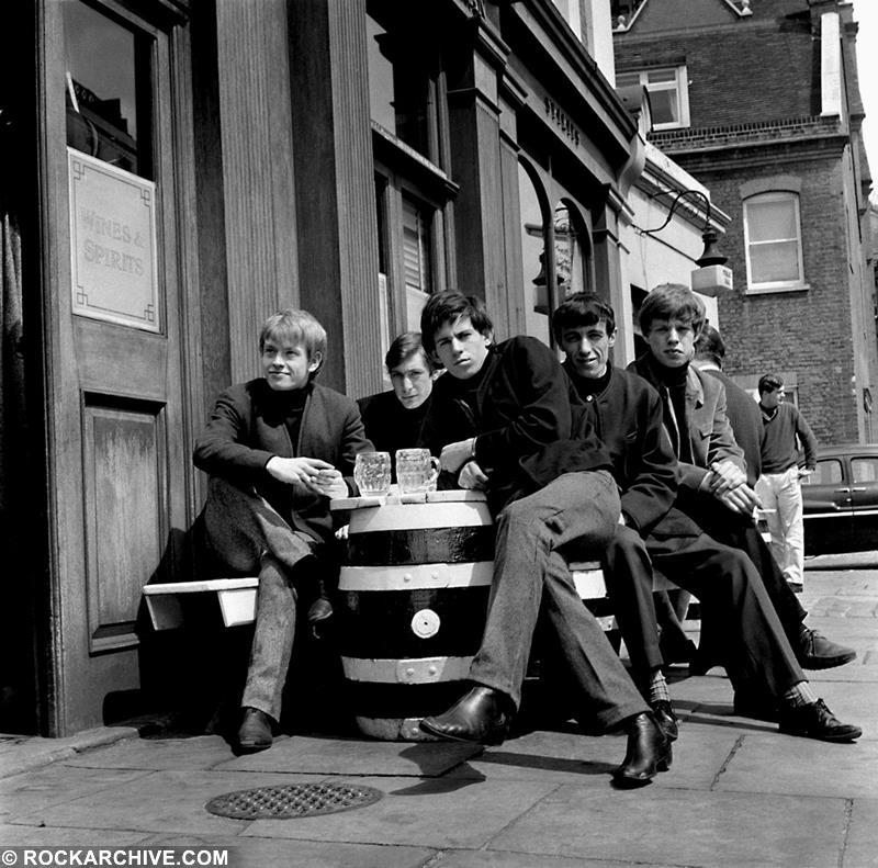 One of the shots from the very first photo shoot in early 1963. Taken five days after Andrew Loog Oldham signed the band. © Philip Townsend