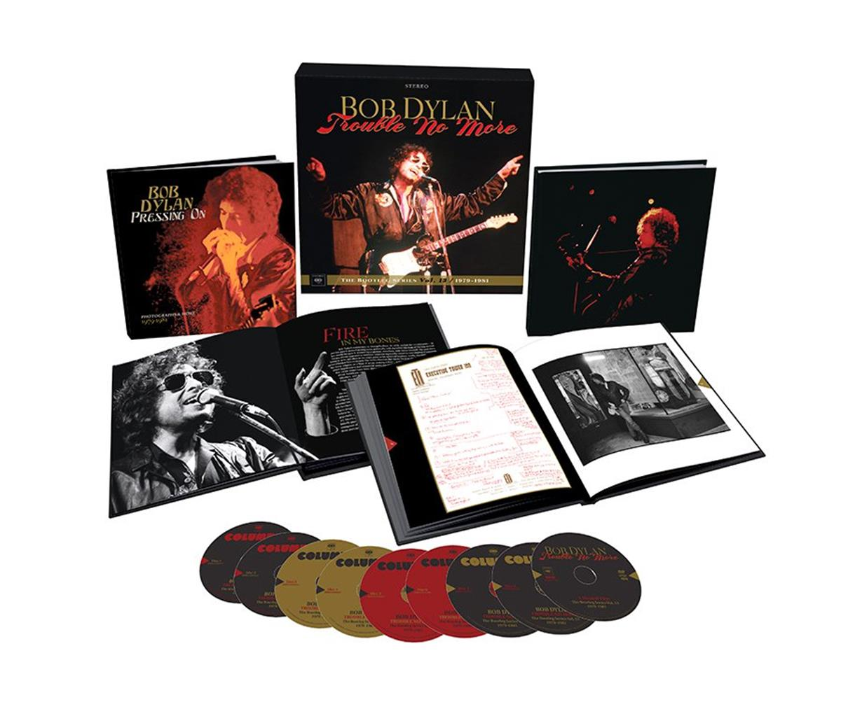 "Bob Dylan – Trouble No More – The Bootleg Series Vol. 13 / 1979-1981 Deluxe Box Set. © Sony Music Entertainment / COLUMBIA / ""Walking Eye"" Design"