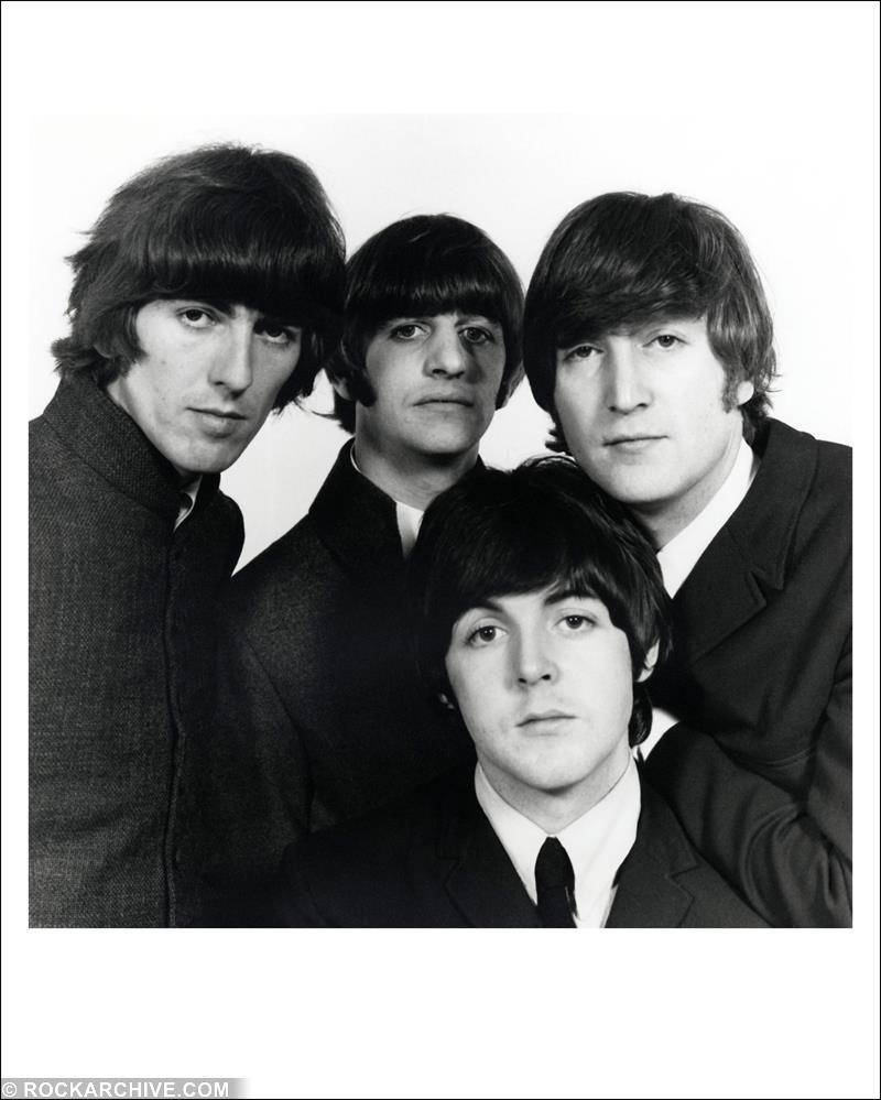 Iconic Beatles shot taken at Sheriff Road Studio, London in 1965 and used on the cover of Mojo to celebrate The Beatles Anthology release. © Robert Whitaker