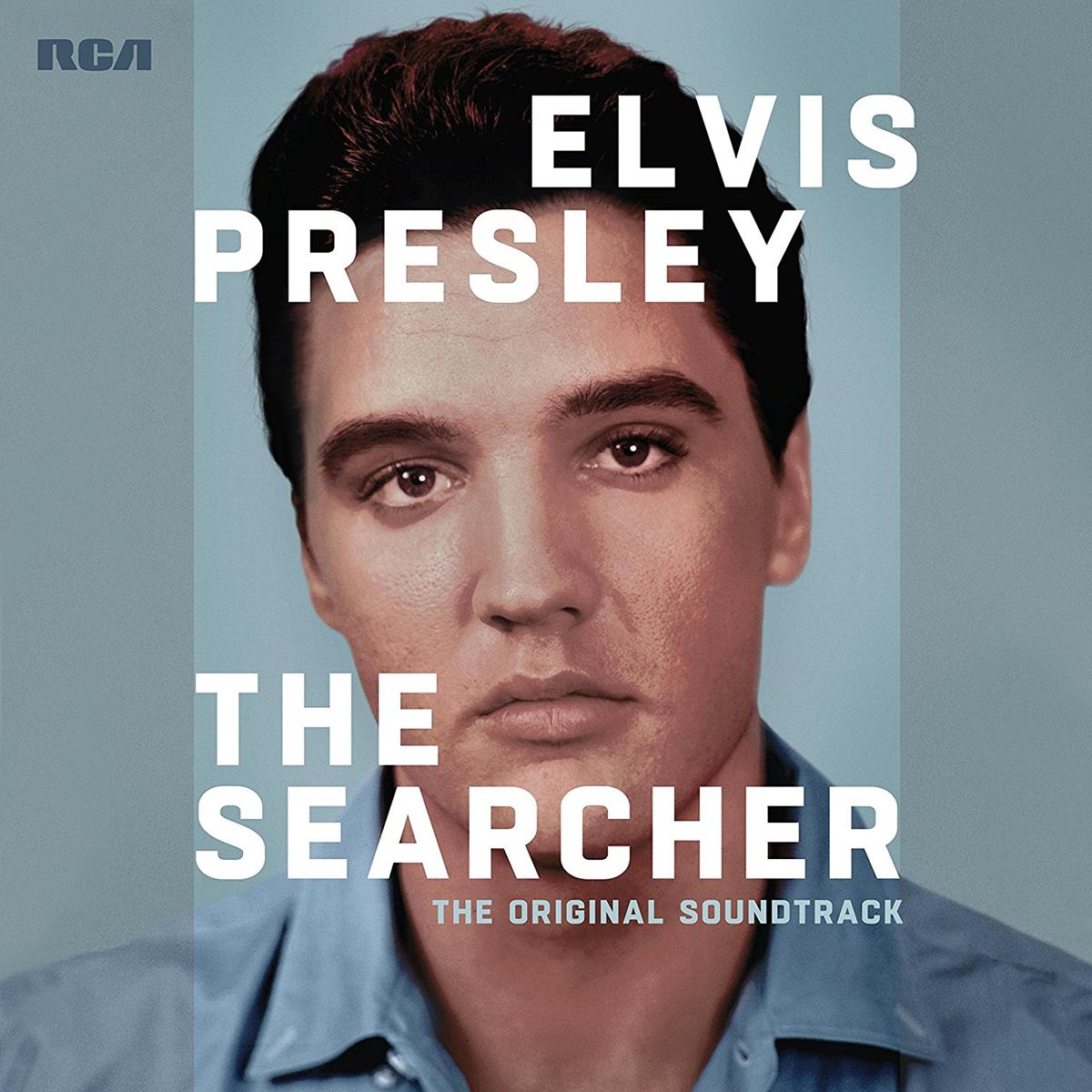 "Cover for the soundtrack that will accompany ""Elvis Presley: The Searcher. Image courtesy RCA/Legacy Recordings"