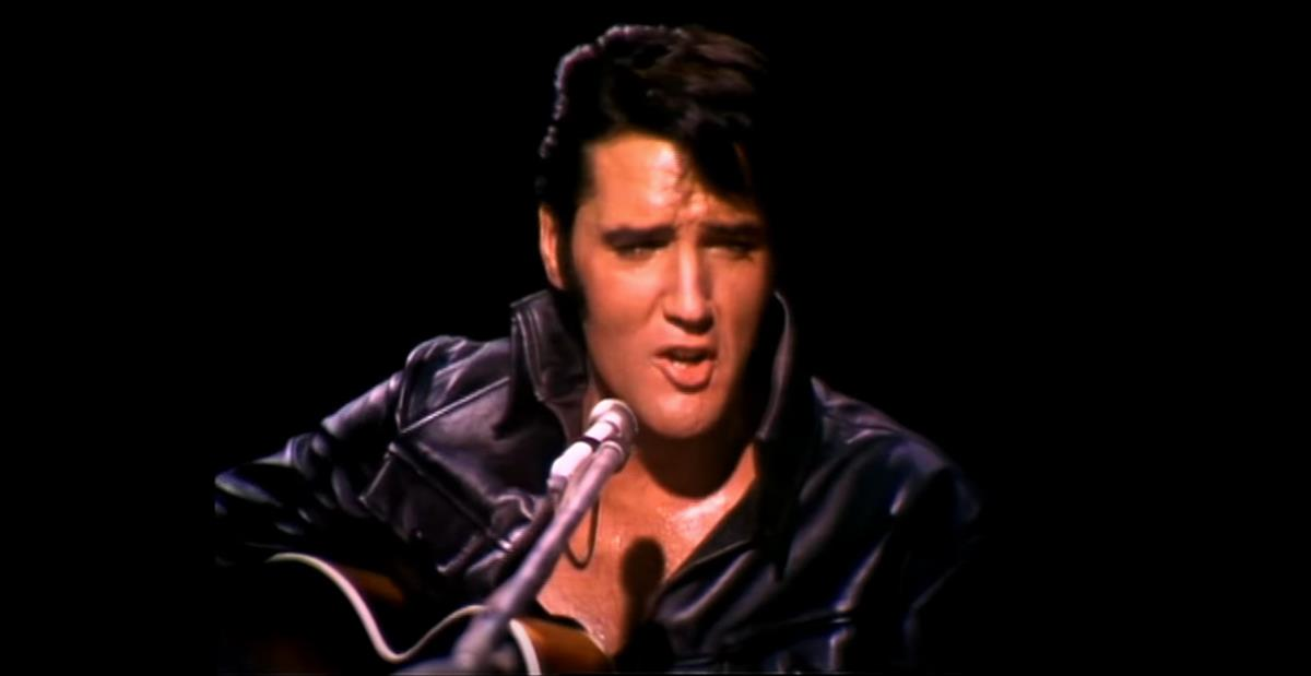 Elvis Presley performing in his legendary '68 Comeback Special. Screenshot via YouTube / JeanNo Moral
