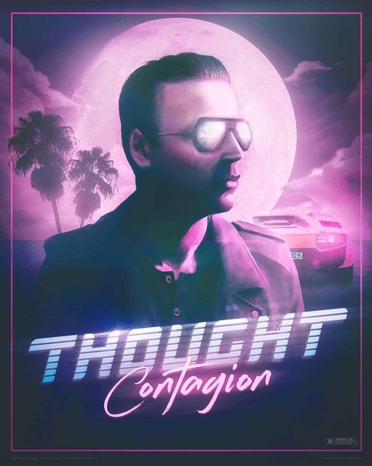 Lead bassist Chris Wolstenholme in the poster for new Muse single 'Thought Contagion'. Image via Facebook/Muse