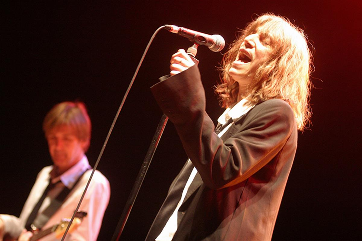 Patti Smith performs at her own Meltdown Festival in 2005. © Mark Mawston. To buy a limited edition print of this photograph please contact Rockarchive at info@rockarchive.com