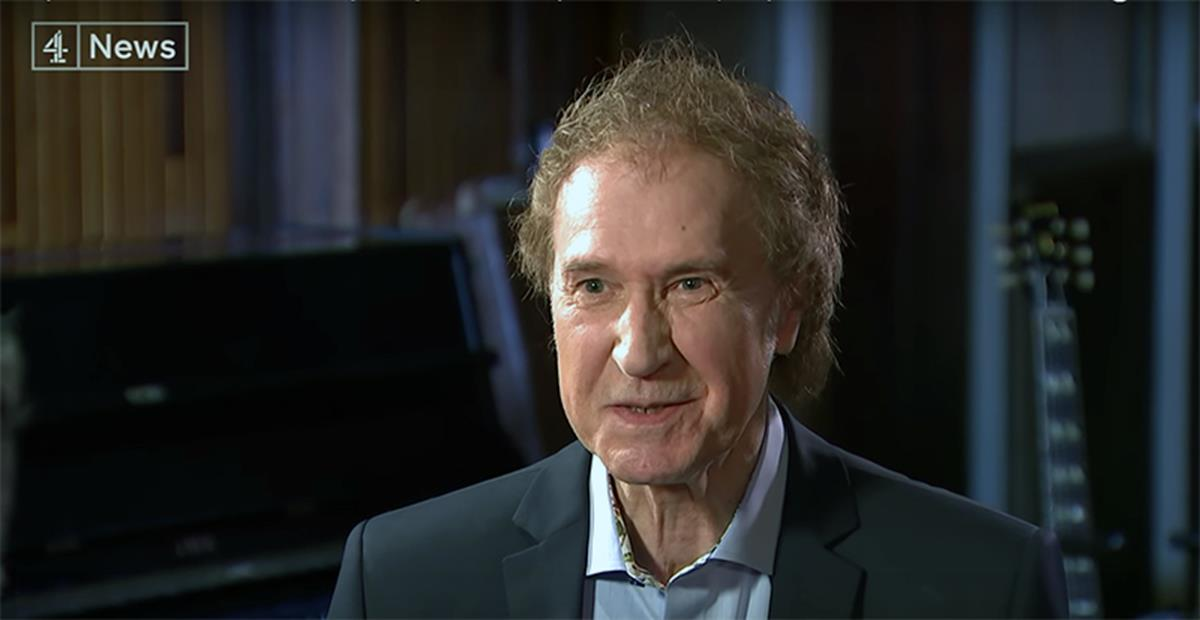 Ray Davies being interviewed by Channel 4 News. Image: Screenshot via YouTube / Channel 4 News
