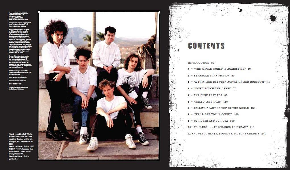 Contents page from 'The Cure: A Perfect Dream'. Image: Amazon.co.uk / Palazzo