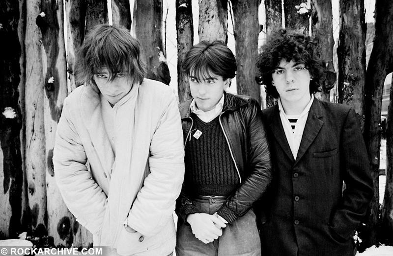 "The Cure released their debut album 'Three Imaginary Boys' in May 1979. The band's second single, ""Boys Don't Cry"", was released in June of that year. This photo was taken in London in 1979. © Jill Furmanovsky"