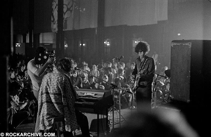 Syd Barrett with Pink Floyd at the International 'Love In' Festival at Alexandra Palace in Summer 1967. © Michael Putland