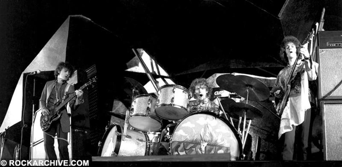 Cream playing at the Windsor Jazz & Blues Festival in 1967. © Pete Smith