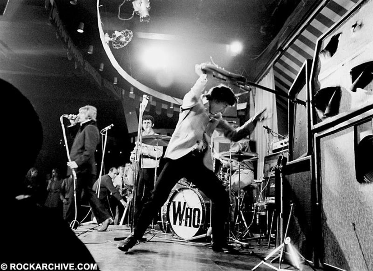 The Who (Roger Daltrey, Pete Townshend, John Entwistle and Keith Moon) photograohed at The Marquee Club in March 1967. © Ray Stevenson