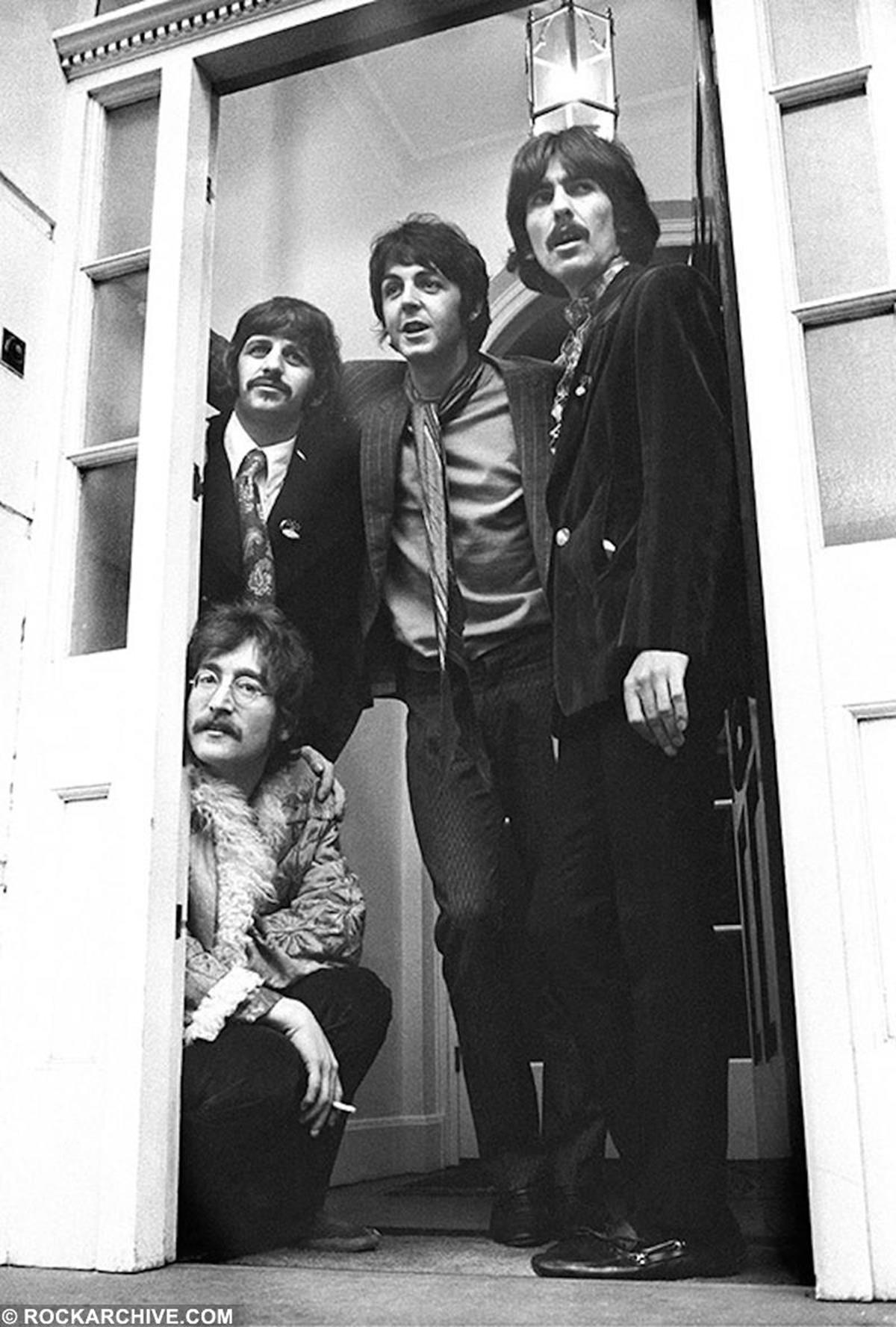 The Beatles in London in 1967, a year before they released The White Album which featured 'Helter Skelter'. © Barrie Wentzell