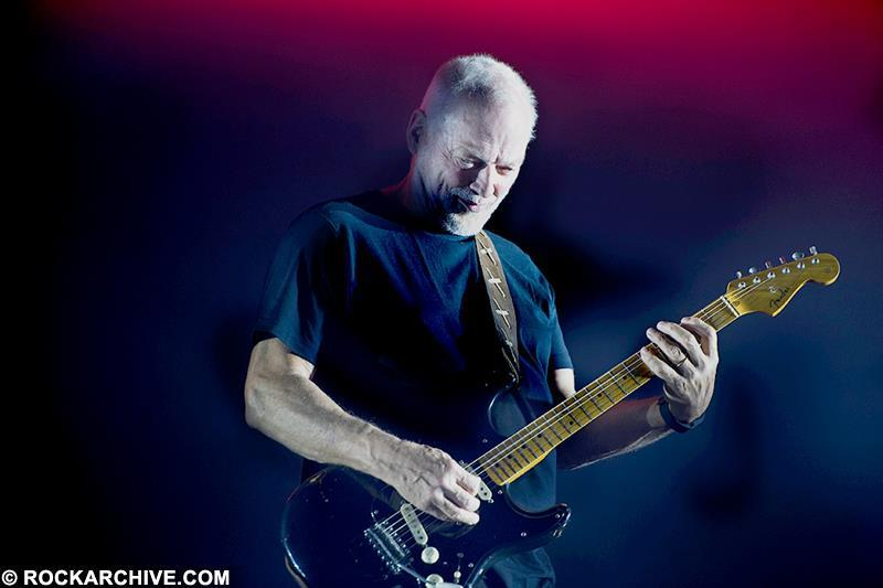 David Gilmour with his beloved 'Black Strat' performing on his third night at the Royal Albert Hall as part of his 'Rattle That Lock' 2015 Tour. © Paolo Brillo