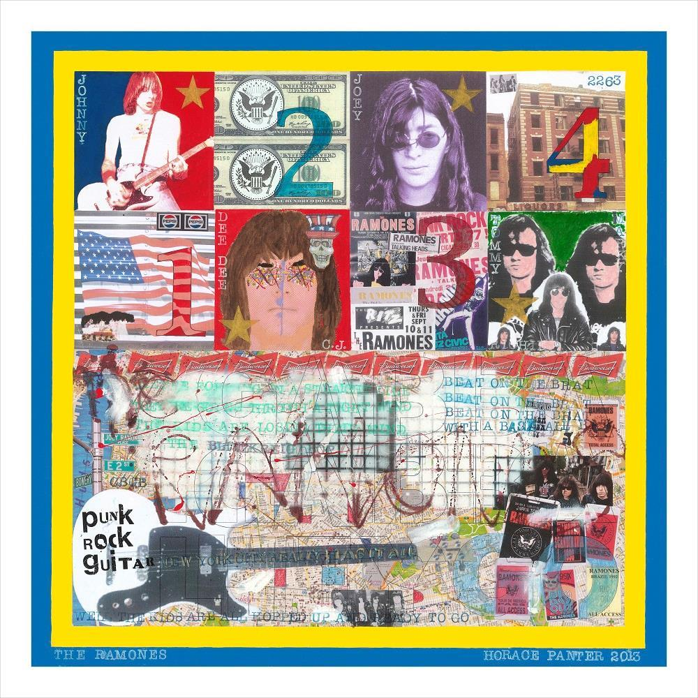 The Ramones by artist Horace Panter