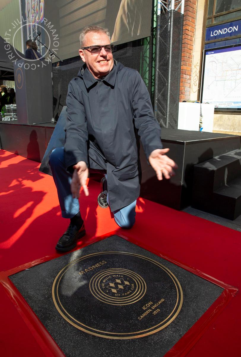 Suggs by Jill Furmanovsky at the Music Walk of Fame, March 2020 © Jill Furmanovsky
